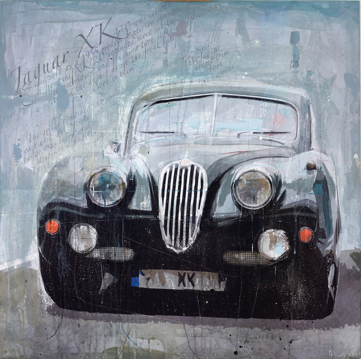 Jaguar XK RL589 by markus haub -  sized 32x32 inches. Available from Whitewall Galleries